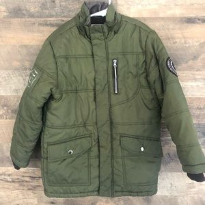 8 Rothschild Army Green Extreme Riders Puff Jacket